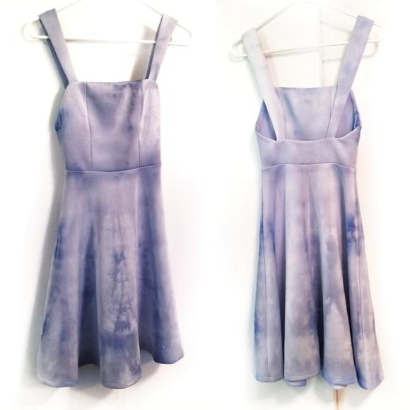 ASOS Dresses & Skirts - ASOS Hand Tie Dye Blue Scuba Skater Dress